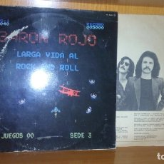 Discos de vinilo: BARON ROJO - LARGA VIDA AL ROCK AND ROLL - DISCO DE VINILO - 1981. Lote 178251717