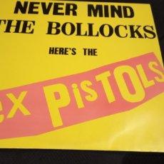 Discos de vinilo: SEX PISTOLS -NEVER MIND THE BOLLOCKS HERE'S THE SEX PISTOLS- (1977) LP DISCO VINILO. Lote 178252285