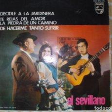 Discos de vinilo: EL SEVILLANO , EP , GUITARRA PACO DE LUCIA.. Lote 178258642