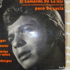 Discos de vinilo: EL CAMARON DE LA ISLA, EP, GUITARRA PACO DE LUCIA.. Lote 178259326