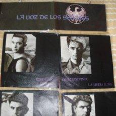 Discos de vinilo: LA VOZ DE LOS SEÑORES ESTUCHE 4 SINGLES IMPACT RECORDS ESPAÑA 1988 PROMO. Lote 178259690