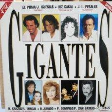 Discos de vinilo: GIGANTES (RECOPILATORIO) - EL PUMA, LUZ CASAL, C. CANO, LUIS COBOS... - DOBLE LP. SELLO EPIC 1992 . Lote 178260202