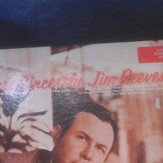Discos de vinilo: LOTE/TRES VINILOS JIM REEVES, UNO DE ELLOS DOBLE. Lote 178260817