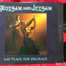 Discos de vinilo: FLOTSAM AND JETSAM - NO PLACE FOR DISGRACE - LP 1988 - ELEKTRA MADE IN USA. Lote 178272373