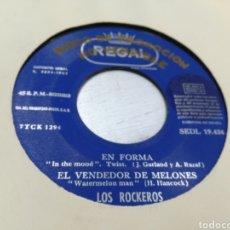 Discos de vinilo: LOS ROCKEROS EP PROMOCIONAL EN FORMA + 3 1965. Lote 178275900