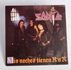 Discos de vinilo: SINGLE SANTA. 1984. MIS NOCHES TIENEN ROCK&ROLL + AL LADO DEL DIABLO. CHAPA DISCOS. Lote 178282200
