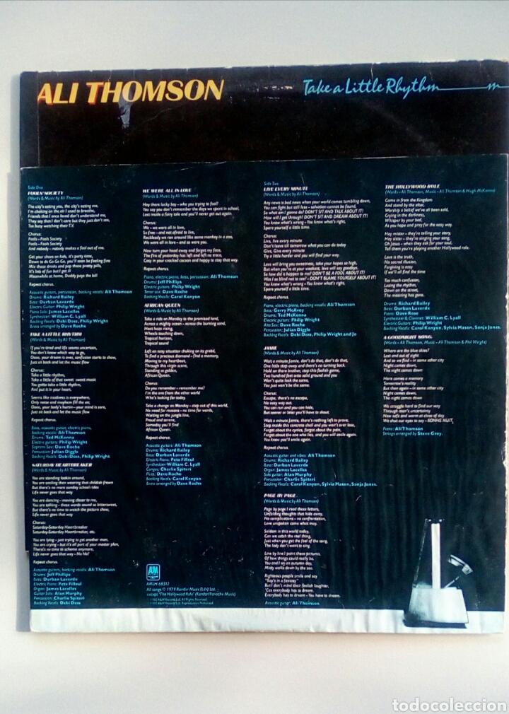 Discos de vinilo: Ali Thomson - Take a little rhythm, A&M Records, 1980. Holland. - Foto 7 - 178285337