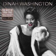 Discos de vinilo: DINAH WHASINGTON * 2LP VINILOS 180G TRANSPARENTES DELUXE * BEST OF 1955-1962 * GATEFOLD PRECINTADO. Lote 236823255