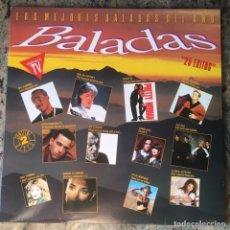 Discos de vinilo: LAS MEJORES BALADAS DEL AÑO . DOBLE LP . 1991 HISPAVOX. Lote 178293330