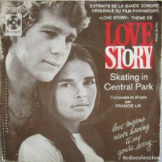 Discos de vinilo: FRANCIS LAY & HIS ORCHESTRA: THEME FROM LOVE STORY / SKATING IN CENTRAL PARK. Lote 178294740
