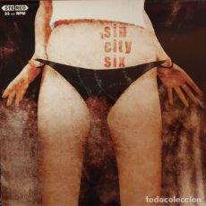 Discos de vinilo: SIN CITY SIX SIN CITY SIX LP . THE PLEASURE FUCKERS HIGH ENERGY ROCK AND ROLL. Lote 178309680