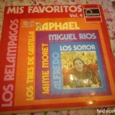 Discos de vinilo: MIS FAVORITOS VOL. 4 , RARO LP PHILIPS 1970 JUAN PARDO LOS SONOR LOS ESTUDIANTES. Lote 178319551