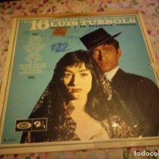 Discos de vinilo: LUIS TUEBOLS Y SU ORQUESTA LOS 16 TANGOS MAS CELEBRES DE ARGENTINA LP 1967 BARCLAY SPAIN TANGO. Lote 178321843
