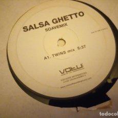 Discos de vinilo: SALSA GHETTO SOAVEMIX. Lote 178324525