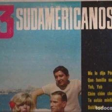 Discos de vinilo: LP LOS 3 SUDAMERICANOS BELTER 22001 USA 1966 YE YE. Lote 178327965