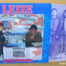 Discos de vinilo: LEIZE SPAIN LP ACOSANDOME 1991 DISCOS BARRABAS BLP.009 HARD ROCK HEAVY ESPAÑOL NUEVO RARO MIRA !!. Lote 178340300