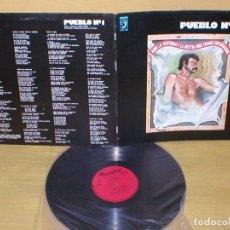 Discos de vinilo: PUEBLO Nº 1 SPAIN LP 1978 AQUI LA HISTORIA Y LA BESTIA NOS TIENEN ENCERRADOS MARC GRAU RARO MIRA !!. Lote 178342046