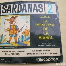 Discos de vinilo: DISCO DE SARDANAS COPLA LA PRINCIPAL DE LA BISBAL. Lote 178352647
