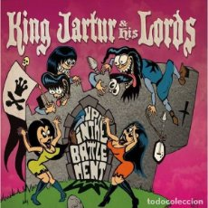 Discos de vinilo: KING JARTUR AND HIS LORDS – UP IN THE BATTLEMENT / TALULAH DOES THE HULA SINGLE ROCK SURF. Lote 178356528