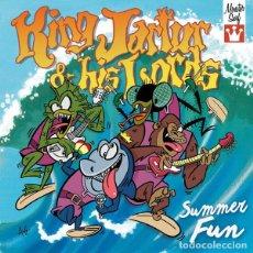 Discos de vinilo: KING JARTUR AND HIS LORDS – SUMMER FUN- EP 7 CUATRO TEMAS- SURF ROCK GARAGE. Lote 178356931