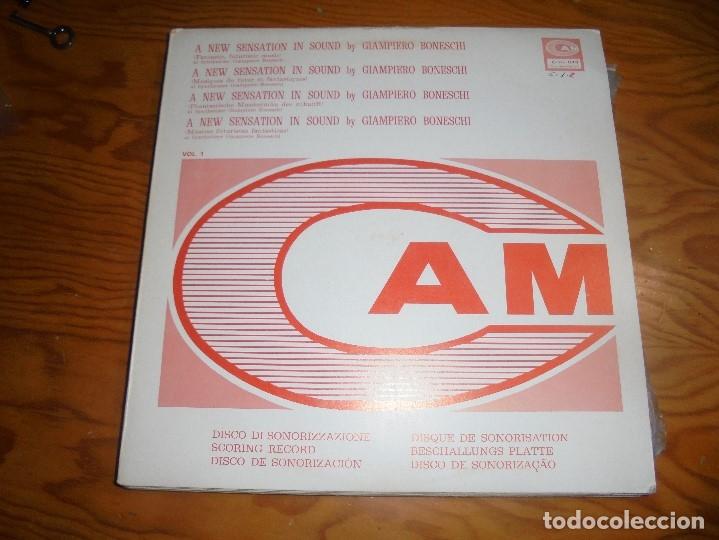 GIAMPIERO BONESCHI. A NEW SENSATION IN SOUND, VOL 2. CAM, 1973. PROMOCIONAL. EDT. ITALIA. (#) (Música - Discos - LP Vinilo - Electrónica, Avantgarde y Experimental)