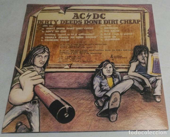 Discos de vinilo: AC/DC – Dirty Deeds Done Dirt Cheap APLP 020 AUSTRALIA - Foto 2 - 178368157