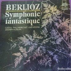 Discos de vinilo: VINILO BERLIOZ SINFONIA FANTASTICA ORQUESTA SINFONICA DE CHEQUIA 1986. Lote 178379735