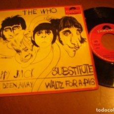 Discos de vinilo: EP : THE WHO / HAPPY JACK + 3 ED SPAIN POLYDOR 1967 VG ++. Lote 178384098