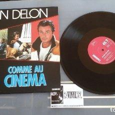Discos de vinilo: ALAIN DELON - COMME AU CINEMA MAXI:JULISA 8.759 - PROCEDE DE ALMACÉN DE DISCOGRÁFICA. IMPOLUTO. Lote 178385490