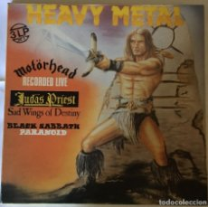 Discos de vinilo: LP TRIPLE BLACK SABBATH,MOTORHEAD,JUDAS PRIEST SELLO PDI 1984. MUY RARO. Lote 178392745