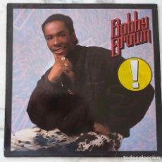 Discos de vinilo: BOBBY BROWN. KING OF STAGE. LP ALEMANIA CON FUNDA INTERIOR CON CRÉDITOS. Lote 178556991