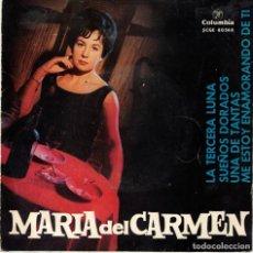 Discos de vinilo: MARIA DEL CARMEN . LA TERCERA LUNA - UNA DE TANTAS +2 - EP SPAIN 1963. Lote 219036256