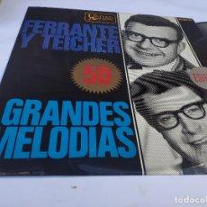Discos de vinilo: FERRANTE Y TEICHER - LP SPAIN PS - 50 GRANDES MELODÍAS - HISPAVOX 1964. Lote 178558455
