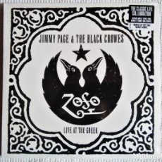 Discos de vinilo: JIMMY PAGE & THE BLACK CROWES - '' LIVE AT THE GREEK '' 3 LP WHITE VINYL 2013 USA SEALED. Lote 178564038