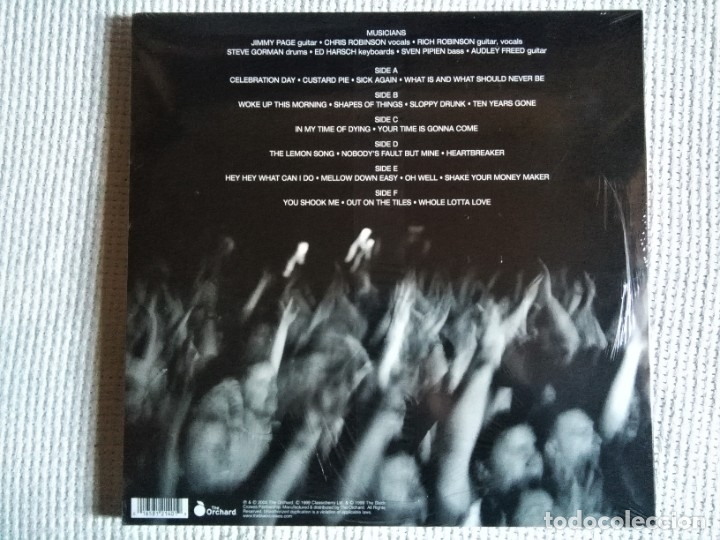 Discos de vinilo: JIMMY PAGE & THE BLACK CROWES - LIVE AT THE GREEK 3 LP WHITE VINYL 2013 USA SEALED - Foto 2 - 178564038