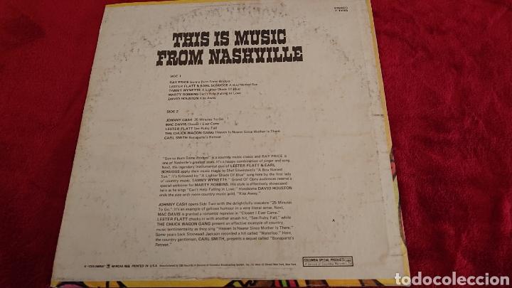 Discos de vinilo: LP THIS IS MUSIC FROM NASHVILLE 1971 - Foto 2 - 178572518