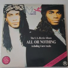 Discos de vinilo: LP. MILLI VANILLI. ALL OR NOTHING. ARIOLA.. Lote 178574783