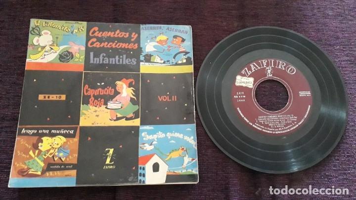 DISCO INFANTIL CUENTOS Y CANCIONES - ZAFIRO (Música - Discos - Singles Vinilo - Música Infantil)