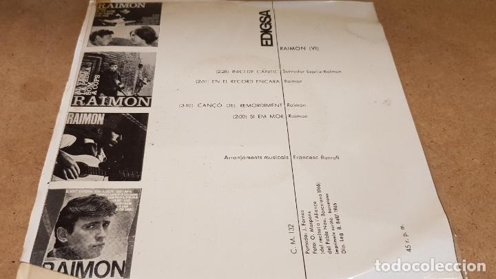 Discos de vinilo: RAIMON / INICI DE CÀNTIC / EP - EDIGSA-1966 / MBC. ***/*** - Foto 2 - 178583481