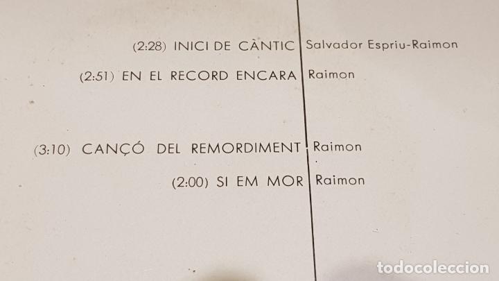 Discos de vinilo: RAIMON / INICI DE CÀNTIC / EP - EDIGSA-1966 / MBC. ***/*** - Foto 3 - 178583481