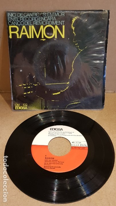 RAIMON / INICI DE CÀNTIC / EP - EDIGSA-1966 / MBC. ***/*** (Música - Discos de Vinilo - EPs - Cantautores Españoles)