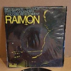 Discos de vinilo: RAIMON / INICI DE CÀNTIC / EP - EDIGSA-1966 / MBC. ***/***. Lote 178583481