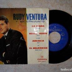 Discos de vinilo: RUDY VENTURA Y SU CONJUMNTO. LA MAMA. ETC..DISCO COLUMBIA 1964.. Lote 178591322