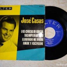 Discos de vinilo: JOSE CASAS Y SU ORQUESTA..LAS CHICAS DE GRECIA. MAS 3 .BELTER 1962.. Lote 178591722