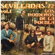 Discos de vinilo: LOS ROMEROS DE LA PUEBLA - EL EMBARQUE DE GANADO / LAS FLORES DE LA DISCORDIA +2 - EP 1971. Lote 178593072