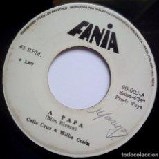 Discos de vinilo: CELIA CRUZ & WILLIE COLON - A PAPA / USTED ABUSO - SINGLE PERUANO 1977 - FANIA. Lote 178593801