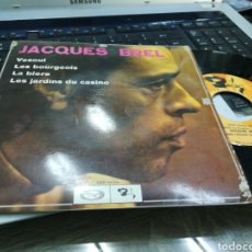 Discos de vinilo: JACQUES BREL EP VESOUL + 3 ESPAÑA 1969. Lote 178595010