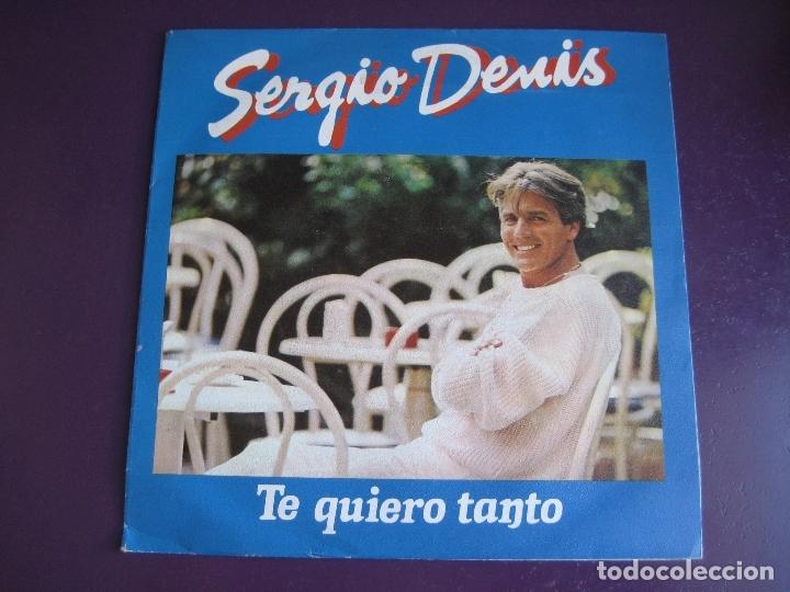 SERGIO DENIS SG PHILIPS 1986 - TE QUIERO TANTO / YO NO QUIERO PERDER TU AMOR - ARGENTINA BALADA POP (Música - Discos - Singles Vinilo - Grupos y Solistas de latinoamérica)