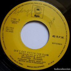 Discos de vinilo: MICHAEL JACKSON - BILLIE JEAN / NO PUEDO (CAN´T GET OUTTA) - SINGLE PERUANO 1982 - EPIC. Lote 178599032