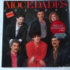 Discos de vinilo: MOCEDADES, LP COLORES CANTADA CON DONOVAN. CBS 1.986, BUEN ESTADO. Lote 178608478